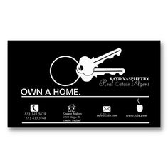 Key shaped business cards what a great way to represent the key to real estate business card colourmoves