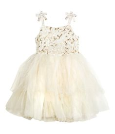 Sequined Tulle Dress | White | Kids | H&M US