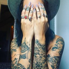 Sleeves _ tattoo _ inked _ babe _ boho 《¤@healthy__happy ¤》