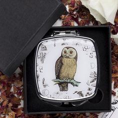 Owl Compact Mirror Gift