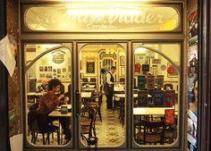 Granja viader - café typique barcelona -Bikini sandwich and hot chocolate and churos