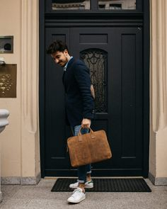 Leather laptop bag by Scaramanga. Chic and compact this mens leather laptop case is the perfect commuter's accessory. Leather Laptop Case, Leather Wallet, Mens Work Bags, Portfolio Case, Briefcase For Men, Best Laptops, Leather Accessories, Fathers Day Gifts, Leather Men