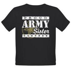 Proud Army Sister Organic Toddler T-Shirt (dark)