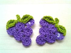 4pcs  Grape Crochet Appliques  made to order by appliquefarm, $3.20