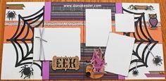 Scaredy Cat Halloween Scrapbook Layouts CTMH #cricutexplore #ctmh #scraptabulousdesigns