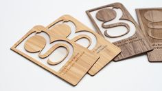"""Cool laser-cut, wooden business cards – Designed to """"represent your brand in a personalized and unique way"""""""