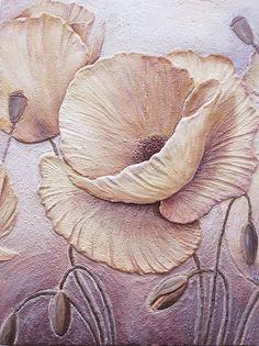 Panel Fresco Yellow Poppies (detail)