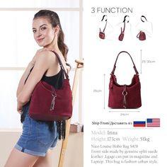 a2c67cdb49cc 2018 Fashion Women Split Leather Shoulder Bag Female Suede Casual Crossbody  handbag Casual Lady Messenger Hobo