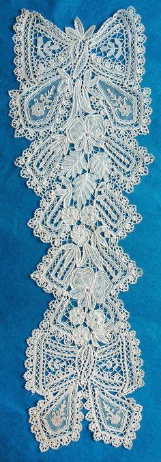 Antique/vintage Brussels Duchesse and Point de Gaze lace dress front
