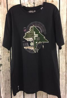 LRG Lifted Research Group Men's XL Black Graphic Tee T-Shirt Short Sleeve Tree #LRG #GraphicTee