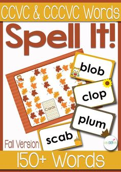 Get students sounding out initial blends with this fun initial blends game. Students will read and spell over 150 CCVC/CCCVC words! Student Reading, Teaching Reading, Reading Skills, Blends And Digraphs, Phonics Blends, Sounding Out Words, Short Vowel Sounds, Spelling Worksheets, Halloween Words