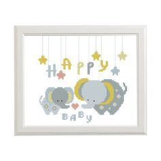 Happy baby Cross stitch pattern Elephant от AnimalsCrossStitch Baby Cross Stitch Patterns, Cross Stitch For Kids, Cross Stitch Baby, Cross Stitch Samplers, Cross Stitch Animals, Counted Cross Stitch Kits, Cross Stitching, Cross Stitch Embroidery, Elephant Cross Stitch