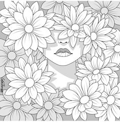 Free Adult Coloring Pages, Cute Coloring Pages, Coloring Pages To Print, Free Printable Coloring Pages, Coloring Books, Coloring Apps, Art Drawings, Sketches, Forget