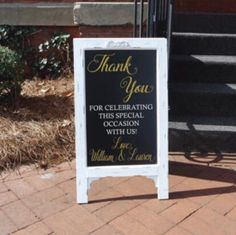 This wonderful thank you sign will be a delightful way to tell friends and family how much you appreciate them celebrating your special day.