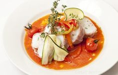 Monkfish Tails Recipe - Great British Chefs Monkfish Recipes, Red Pepper Sauce, Great British Chefs, Fodmap Recipes, White Meat, Fish Dishes, Fish And Seafood, Seafood Recipes, Food And Drink
