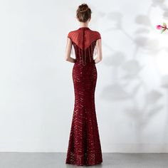 Women Sexy Party Dress Female Sequined Tassel Mesh Elegant Bodycon Dresses Summer 2019 Womens Club Wear Long Clothes Vestidos Bridesmaid Dresses, Prom Dresses, Formal Dresses, New Party Dress, Gland, Clubwear For Women, Womens Fashion Stores, Going Out Dresses, Party Dresses For Women