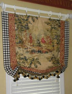 CUSTOM Made French Country Provence Bosporus Toile Vintage Red Covington Valance in Home & Garden, Window Treatments & Hardware, Curtains, Drapes & Valances French Country Kitchens, French Country Farmhouse, French Country Living Room, French Country Bedrooms, French Country Style, Modern Country, French Decor, French Country Decorating, Woodworking Projects
