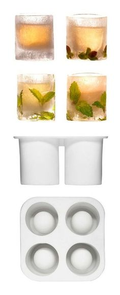 Ice Shot Glasses | Keep Drinks Cold & Beautiful By Freezing Mint Or Berries Into The Ice