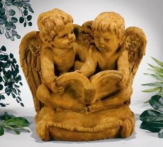 Angels Reading On Pillow Sculpture