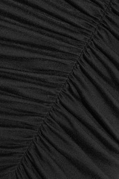 Rick Owens - Ruched Jersey Midi Skirt - Black - IT42