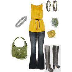 Outfit -- black heels