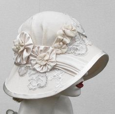 Couture Edwardian Hat Vintage Style Wide Brimmed Summer by BuyGail