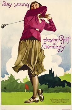 Golf Vintage, Unique Vintage, Vintage Travel Posters, Poster Vintage, Vintage Prints, Best Golf Clubs, Ludwig, Stay Young, Golf Fashion