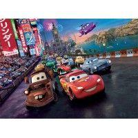 4-013 VE - XL Icke-Vävd / Non-Woven Fototapet Disney Cars Race