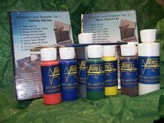 """Script This with Jerry Yarnell !"""" bundle which includes Jerry's signature #4 sable script-liner (not available anywhere but from Jerry's website or Studio); a complete set of his patent-pending script liner paints, and Volumes #1 and #2 Snippet DVDs which include several techniques illustrating use of the script brush"""