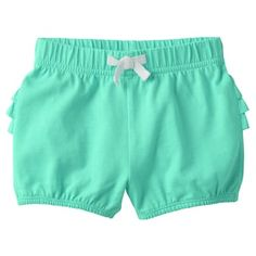 Featuring a ruffled back, these girls' Jumping Beans bubble shorts are an adorable pick for warm weather. Twin Baby Girls, Little Baby Girl, Twin Babies, Baby Girl Fashion, Kids Fashion, Short Niña, Baby Pants, Jumping Beans, Girls Rompers
