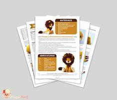 Patrón crochet León TYRION el león Amigurumi pdf tutorial