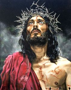 My Precious Lord and Savior, Jesus Christ, who has the Greatest Love of all time. My sins are forgiven because of His great love for me. Pictures Of Christ, Jesus Christ Images, Jesus Art, Religious Pictures, Jesus Tattoo, Jesus Painting, Jesus Christus, The Cross Of Christ, Jesus Resurrection