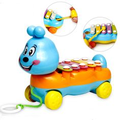 2016 Popular 5-Note Xylophone Musical Toys Wisdom Development Penguin Improve Baby Sensitive to Colors Sounds Toys For Children