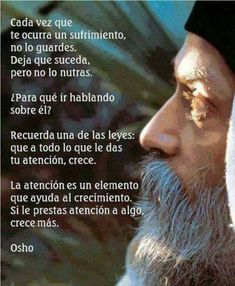 Buddhist Quotes, Spiritual Messages, The Ugly Truth, Osho, Spanish Quotes, Powerful Words, True Quotes, Qoutes, Life Lessons