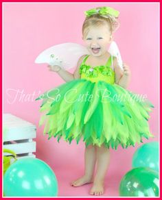Tinkerbell Inspired Party Tutu Dress, Tinkerbell tutu, Fairy Costume for Halloween Tinkerbell Dress, Tinkerbell Party, Diy Tutu, Little Princess, Princess Tutu, Belle Tutu, Belle Dress, 1st Birthday Dresses, Birthday Tutu