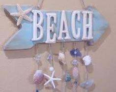 27 New ideas bathroom beach signs sea shells Seashell Crafts, Beach Crafts, Summer Crafts, Crafts With Seashells, Beach Room, Beach Art, Bathroom Beach, Wood Crafts, Diy And Crafts