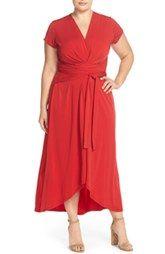 MICHAEL Michael Kors Cap Sleeve Maxi Dress (Plus Size)