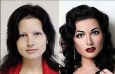 Vadim Andreev- Incredible Make-up Artist.  His  transformations on these lovely women are amazing!  Props to makeup artists- you truly are artists in your craft!