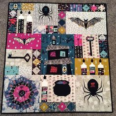 Halloween | Quilt | Finished Epic Halloween Quilt | Flying Parrot Quilts | Bloglovin'