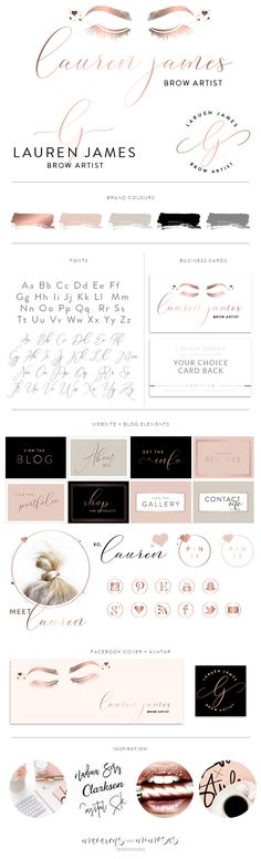 Eyelash Makeup Artist Logo Design, Brow Bar Logo, Microblading Specialist Logo Branding, Watermark Stamp Kit, Beauty Branding Package Pre made branding kits are the perfect solution to polish your brand professionally, at a super affordable price! The are perfect for photographers, interior designs, event & wedding planners, small business and boutiques, makeup artists, bloggers and more.