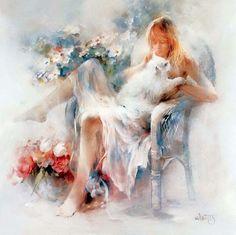 Counted Cross Stitch Patterns, Art World, Cat Art, Female Art, Sculpture Art, Original Art, Canvas Art, Fine Art, Drawings