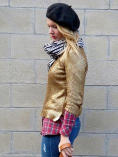 gold foil knit... need one!