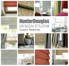 Get creative with new custom soft roman shades from Hunter Douglas Design Studio. We've made it easy. Choose from four distinctive styles, each designed and crafted with Hunter Douglas quality and innovation. Explore our exclusive collection of artfully curated fabrics sophisticated textures, patterns, stripes, rich solids and sheers. Then, reflect your personal style by adding coordinating valances, tapes and trims, making your windows truly unique. Hunter Douglas Design Studio. Custom…