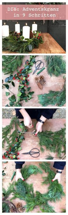 In 9 Schritten deinen eigenen Aventskranz binden #adventskranz #advent #weihnachtszeit #weihnachten #solebich #inspiration #interior