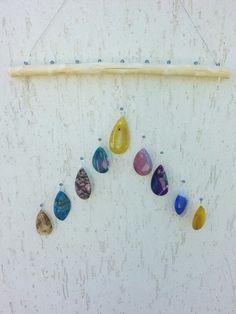 Agate stones chime/suncatcher