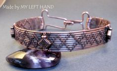 Mens Copper Wire Wrapped Bracelet Mens by MadeByMyLeftHand on Etsy