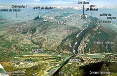 Sisteron, aerial view - Provence, France