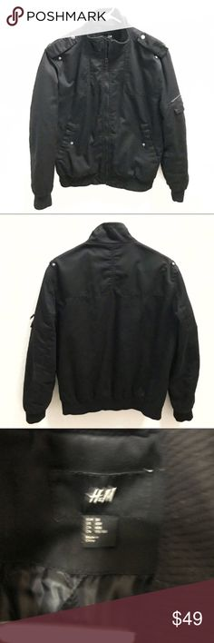 """H&M flight jacket / bomber jacket 40R Pit to pit 23"""" Sleeve 25"""" Shoulder 18"""" Length 26""""  Winter, spring, summer, fall, birthday, New Year's Eve, Valentine's Day date, Purim, Easter, Earth Day, Cinco de Mayo, Mother's Day, Coachella, Memorial Day, Comic Con, 4th of July, Labor Day, Thanksgiving, Halloween, Christmas H&M Suits & Blazers Sport Coats & Blazers"""