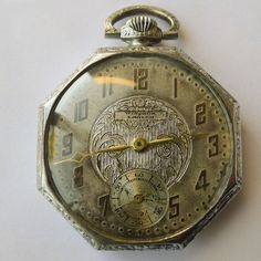 Pocket Watch - Antique Art Nouveau - Sterling Silver - Circa 1910