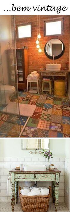 que!baderna: Pias diferentes para banheiros perfeitos